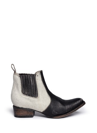 Main View - Click To Enlarge - FREEBIRD - 'Lasso' calf hair distressed leather Chelsea boots