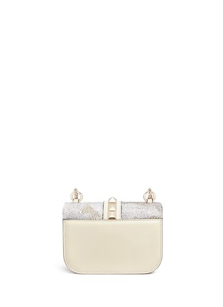 Detail View - Click To Enlarge - Valentino - 'Rockstud Lock' Camustars embellished leather chain bag
