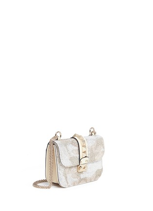 Figure View - Click To Enlarge - Valentino - 'Rockstud Lock' Camustars embellished leather chain bag