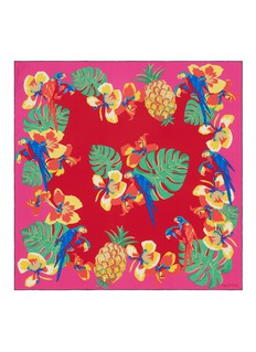 Valentino 'Tropical Dream' print silk twill scarf