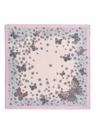 Main View - Click To Enlarge - Valentino - Butterfly print cashmere-silk scarf
