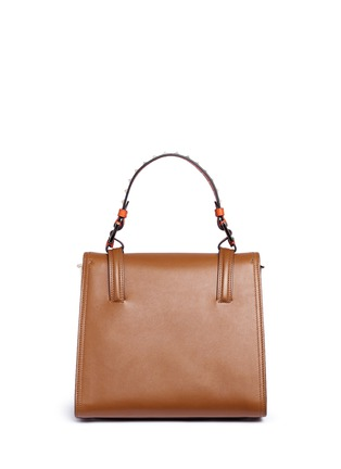 Detail View - Click To Enlarge - Valentino - 'Cabana' medium leather top handle satchel