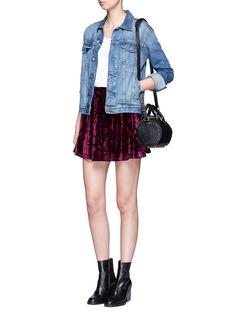 TopshopVelvet Flippy Skirt