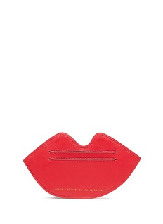alice + oliviaLips leather card case