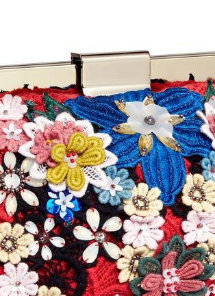 - alice + olivia - 'Scarlet' embellished floral crochet shoulder bag