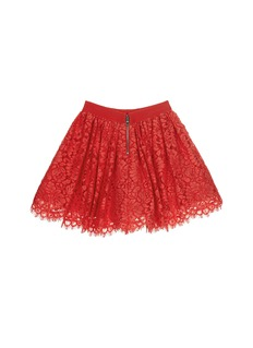 alice + olivia Floral lace kids pouf skirt