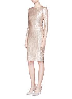 alice + olivia'Ramos' sequin embellished skirt