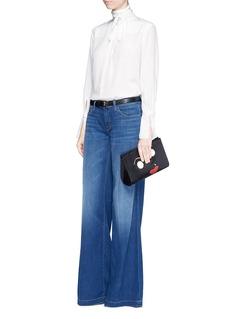 J Brand'Lynette' low rise wide leg jeans