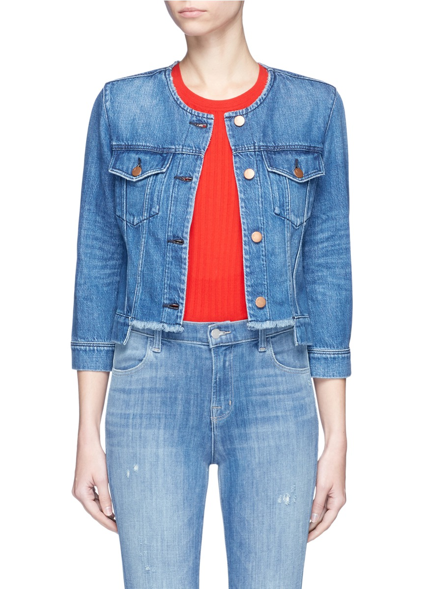 Catesby cropped denim jacket by J Brand