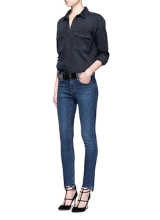 J Brand '811' staggered cuff skinny jeans