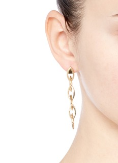 Philippe Audibert 'Elton' oval chain drop earrings