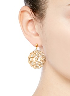Philippe Audibert 'Lacey' floral cutout drop earrings