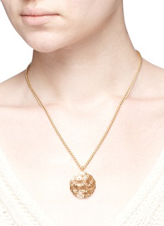 Philippe Audibert 'Lacey' floral cutout pendant necklace