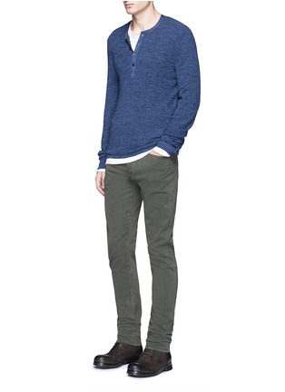 Figure View - Click To Enlarge - 3x1 - 'M3' slim fit cotton twill pants