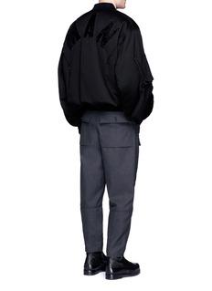 Feng Chen WangOversized letter fleece patch bomber jacket