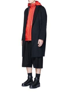 Feng Chen WangDrape side drop crotch wool shorts