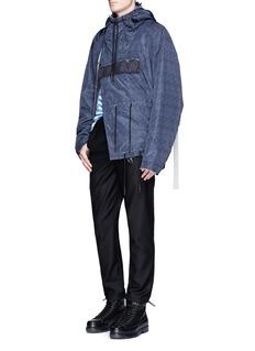 Feng Chen WangDenim print buckle strap jacket
