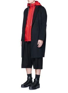 Feng Chen WangDrape back hooded vest