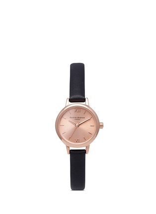 Main View - Click To Enlarge - Olivia Burton  - 'Mini Dial' leather strap watch