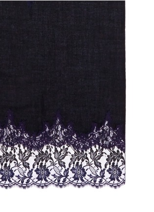 Detail View - Click To Enlarge - Janavi - 'Venetian Mirror' lace insert cashmere scarf