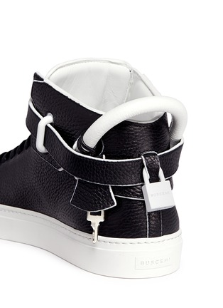 Detail View - Click To Enlarge - Buscemi - '100MM Edge' high top leather sneakers