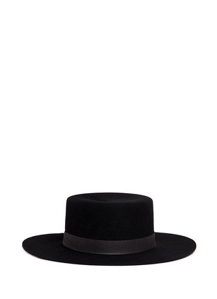 Janessa Leone - 'Gabrielle' leather band wool felt bolero hat