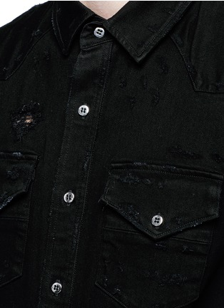 Amiri - Distress denim shirt