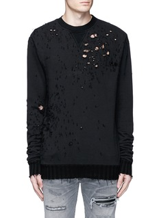 Amiri 'Shotgun' brushed cotton sweatshirt