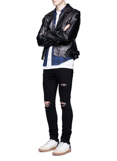 Amiri 'Shotgun' slim fit ripped knee jeans