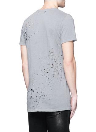 Back View - Click To Enlarge - Amiri - 'Shotgun' cotton T-shirt