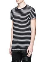 Stripe cotton-blend T-shirt