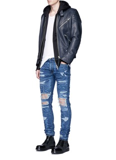 Amiri 'MX0' stitching ripped jeans