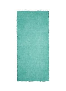 IshRaw edge superfine cashmere shawl