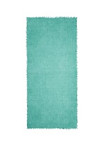 Raw edge superfine cashmere shawl