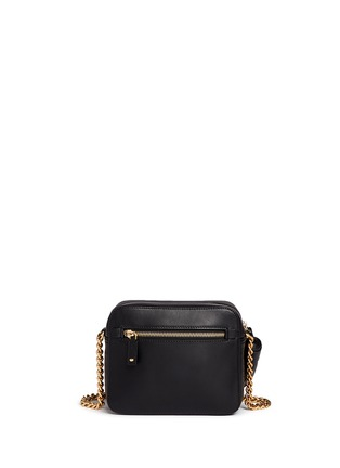 Back View - Click To Enlarge - Anya Hindmarch - 'Eyes' embossed leather chain crossbody bag