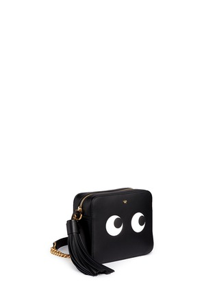 Front View - Click To Enlarge - Anya Hindmarch - 'Eyes' embossed leather chain crossbody bag