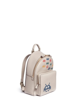 Front View - Click To Enlarge - Anya Hindmarch - 'Space Invaders Mini' embossed leather backpack