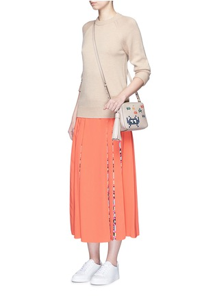 Figure View - Click To Enlarge - Anya Hindmarch - 'Space Invaders' embossed leather crossbody bag