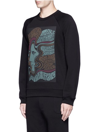 Front View - Click To Enlarge - Dries Van Noten - 'Howard' psychedelic print sweatshirt