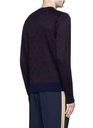 Back View - Click To Enlarge - Dries Van Noten - 'Mika' peacock jacquard sweater