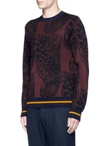 'Mikolay' peacock jacquard sweater