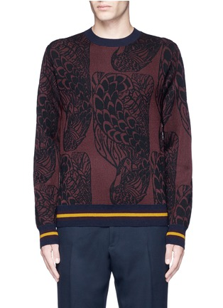 Main View - Click To Enlarge - Dries Van Noten - 'Mikolay' peacock jacquard sweater