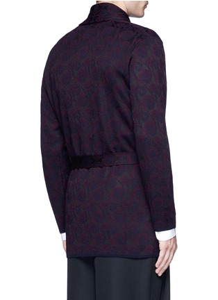 Back View - Click To Enlarge - Dries Van Noten - 'Milton' peacock jacquard robe cardigan