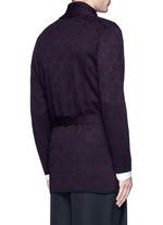 'Milton' peacock jacquard robe cardigan