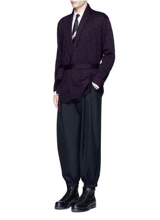 Dries Van Noten-'Milton' peacock jacquard robe cardigan