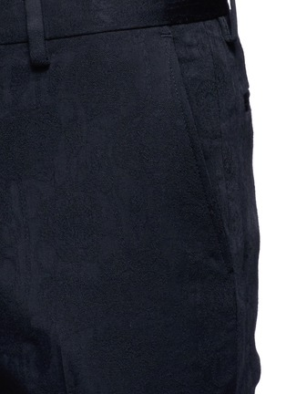 Detail View - Click To Enlarge - Dries Van Noten - 'Patrini' slim fit jacquard tuxedo pants