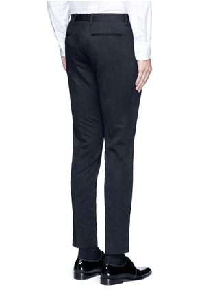 Back View - Click To Enlarge - Dries Van Noten - 'Patrini' slim fit jacquard tuxedo pants