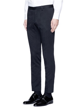 Front View - Click To Enlarge - Dries Van Noten - 'Patrini' slim fit jacquard tuxedo pants