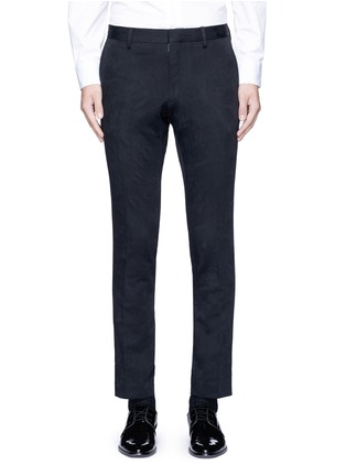 Main View - Click To Enlarge - Dries Van Noten - 'Patrini' slim fit jacquard tuxedo pants