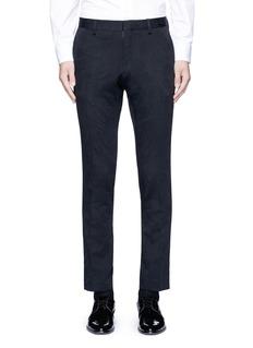 Dries Van Noten'Patrini' slim fit jacquard tuxedo pants